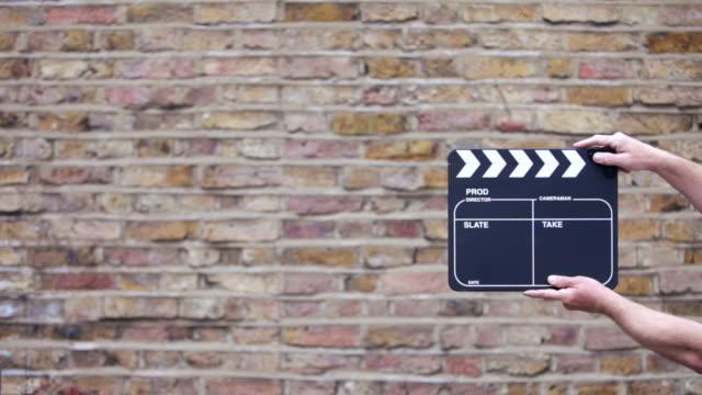 clapper board - film slate stock videos & royalty-free footage