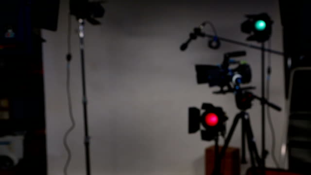 clapper movie slate on dslr video set 4 takes - studio shot stock videos & royalty-free footage