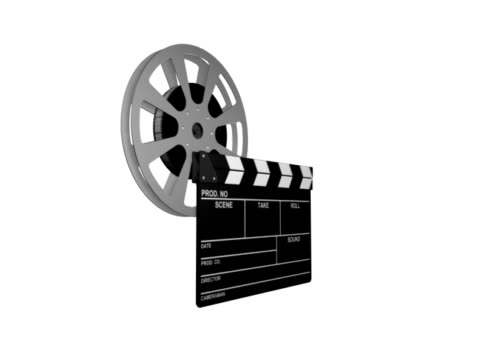 clapperboard and reel film - clapperboard stock videos & royalty-free footage