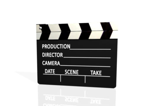 clapperboard white+luma matte(pal25p) - film slate stock videos & royalty-free footage