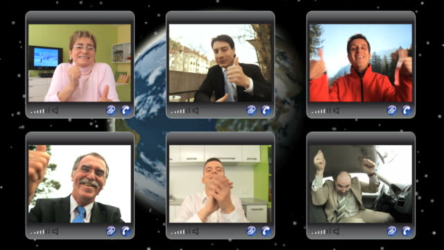 HD MONTAGE: Clapping At A Video Conference