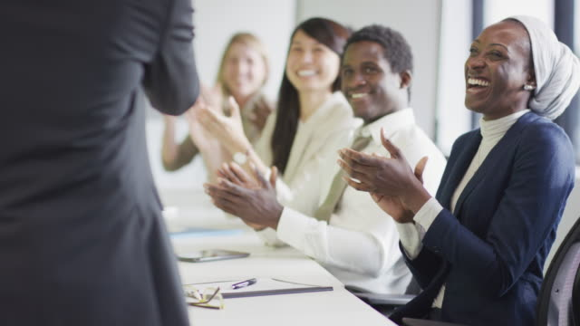 Clapping during a presentation
