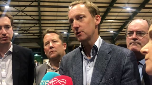 """clare daly has been elected as mep while fianna fail's barry andrews has taken the fourth """"cold storage"""" seat in the dublin constituency. ms daly was... - mep stock videos & royalty-free footage"""