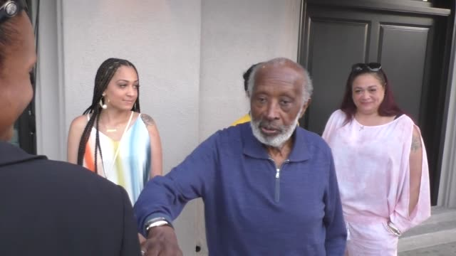 INTERVIEW Clarence Avant on Taylor Swift's music catalog purchase outside Craig's in West Hollywood at Celebrity Sightings in Los Angeles on July 03...