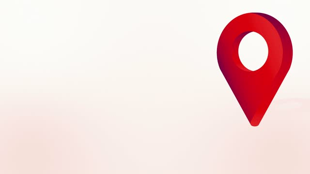 claret red location pin pointer animiertes cartoon-symbol - wegweiser stock-videos und b-roll-filmmaterial