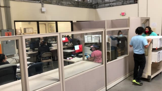 clark county election workers move boxes of mail ballots to be scanned at the clark county election department on october 20, 2020 in north las... - clark county nevada stock videos & royalty-free footage
