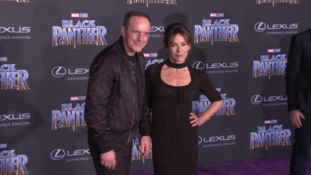 Clark Gregg and Jennifer Grey at the Marvel Studios' 'Black Panther' World Premiere at Dolby Theatre on January 29 2018 in Hollywood California
