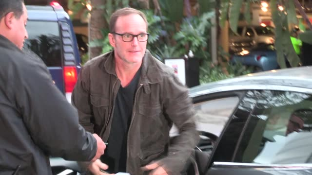 clark gregg at the clippers vs spurs playoffs at staples center in los angeles in celebrity sightings in los angeles, - playoffs stock videos & royalty-free footage