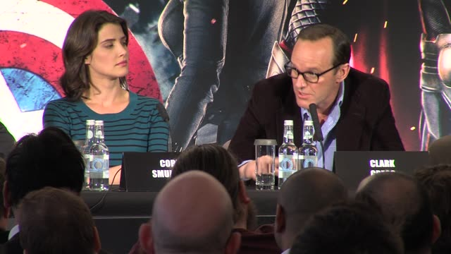 Clark Gregg on his character and Joss Whendon at Avengers Assemble Press Conference at Claridges Hotel on April 19 2012 in London England