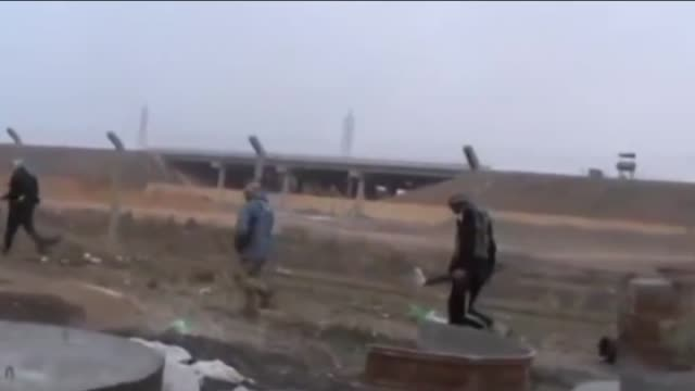 clashes are ongoing between iraqi army and armed tribesmen in the restive western province of anbar in fallujah, iraq on january 08, 2014 - al fallujah stock videos & royalty-free footage