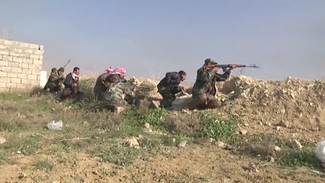 clashes between peshmerga forces and isil continue in sinjar district of mosul iraq on 22 december 2014 snipers of peshmerga forces stage attacks... - sinjar stock videos & royalty-free footage