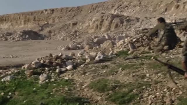 clashes between peshmerga forces and islamic state of iraq and levant members continue in sinjar district of mosul peshmerga forces attack to isil... - sinjar stock videos & royalty-free footage
