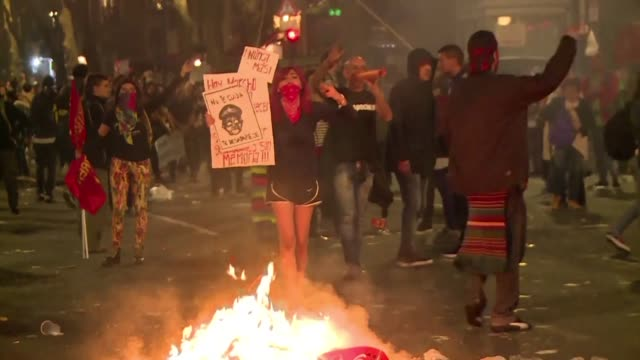 Clashes broke out between security forces and protesters in Buenos Aires Friday during a rally demanding justice for Santiago Maldonado an Argentine...