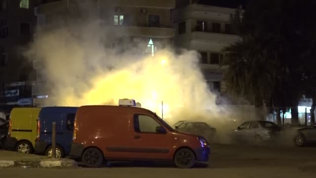 clashes continue in the northern city of tripoli ton april 29, 2020 after protesters targeted banks and other buildings. the lebanese army fired tear... - lebanon country stock videos & royalty-free footage