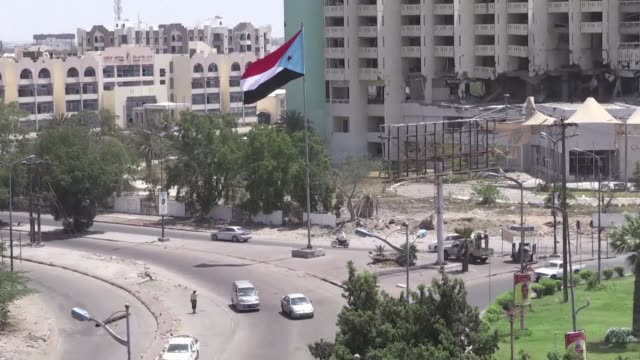clashes erupted in yemen's temporary capital of aden on sunday between the army and forces supporting separatists seeking independence for the south... - port said stock videos & royalty-free footage