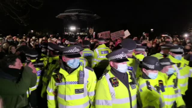 clashes have erupted between police and mourners of sarah everard in london on saturday . earlier, hundreds of people gathered to pay their respects... - carefree stock videos & royalty-free footage