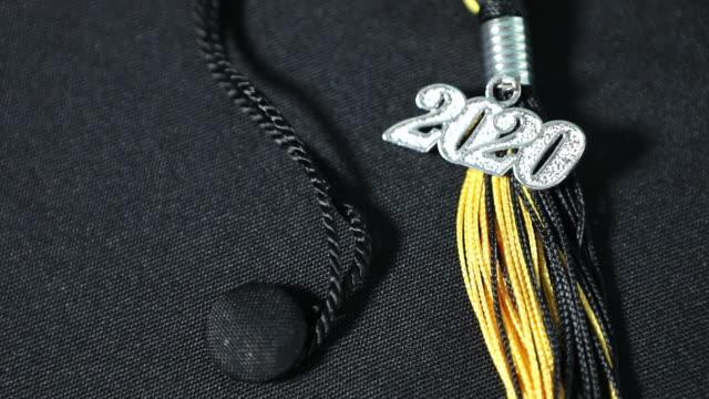 class of 2020 graduation cap and tassel - tassel stock videos & royalty-free footage