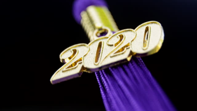 class of 2020 graduation ceremony tassel black - mortar board stock videos & royalty-free footage