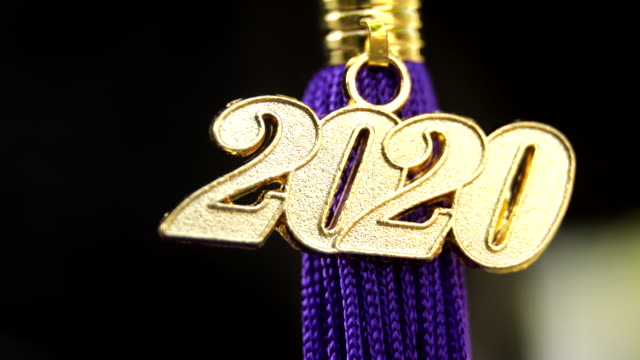class of 2020 graduation ceremony tassel black - graduation stock videos & royalty-free footage
