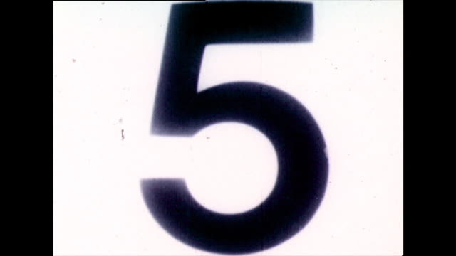 classic b&w film countdown from 10 to 0; 1973 - old stock videos & royalty-free footage