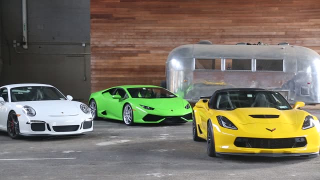 vídeos y material grabado en eventos de stock de classic car club manhattan displays their cars in their new location at pier 76 the former home of the new york police department's mounted unit in... - sala de muestras