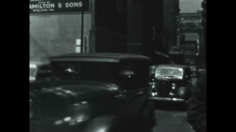 classic cars pass by in downtown philly in the late 1930's. - 1930 1939 stock videos & royalty-free footage