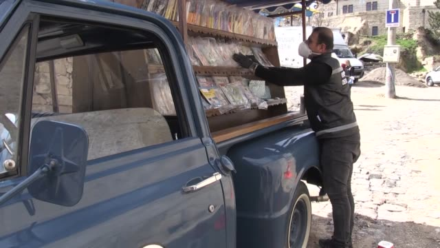 classic chevrolet pick up has been turned into a mobile library for residents under lockdown who can't leave their houses due to coronavirus measures... - library stock videos & royalty-free footage