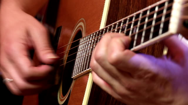 classic gitar player - fretboard stock videos and b-roll footage