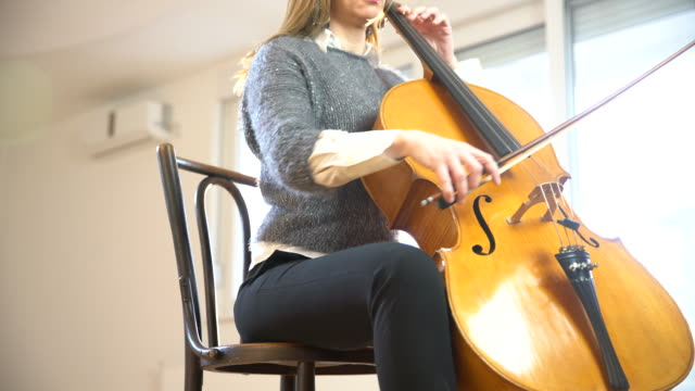 classic music lover - cellist stock videos & royalty-free footage