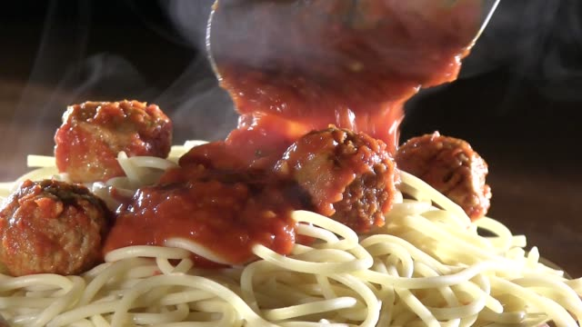 classic spaghetti and meatballs - spaghetti stock videos & royalty-free footage