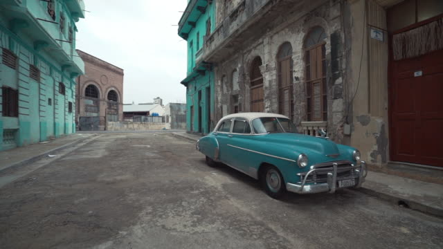 classic vintage car on streets of havana, cuba - havana stock videos & royalty-free footage