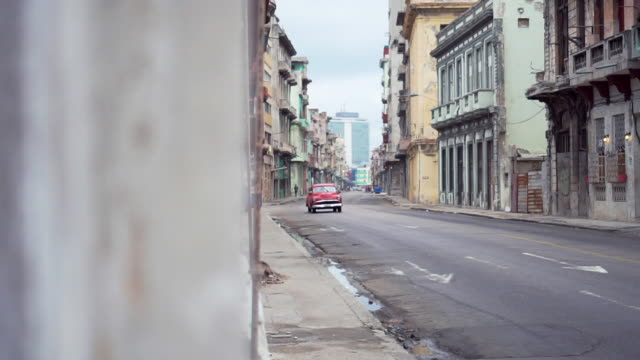 classic vintage cars on streets of havana, cuba - cuba stock videos & royalty-free footage
