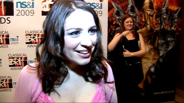 classical brit awards 2009: nominations launch; elizabeth watts interview sot - on being nominated / being scared about the red carpet for the real... - スーザン ボイル点の映像素材/bロール