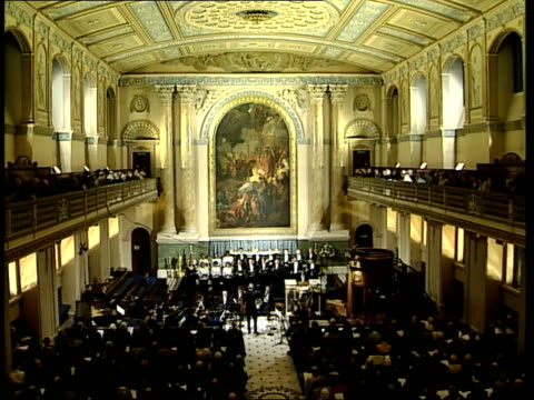bach cantatas: sir john eliot gardiner; choir performing bach cantata in anglican chapel sot - anglican stock videos & royalty-free footage