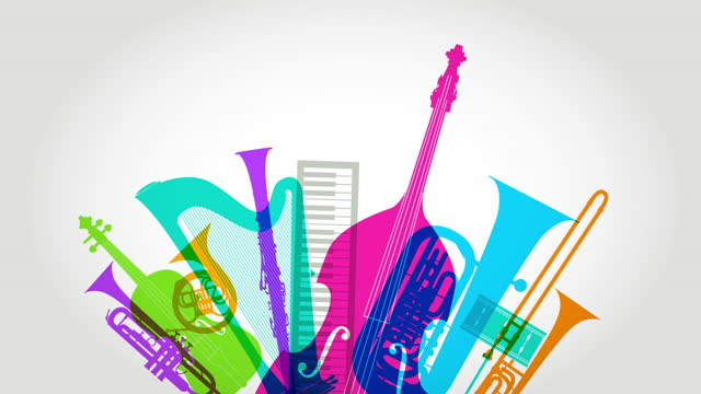 classical musical instruments animation - drum percussion instrument stock videos & royalty-free footage