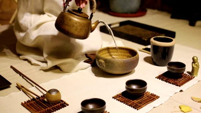 classical tea ceremony. - お玉点の映像素材/bロール