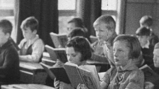 1944 montage classroom education continuing despite wartime evacuations / scotland, united kingdom - scotland stock videos & royalty-free footage