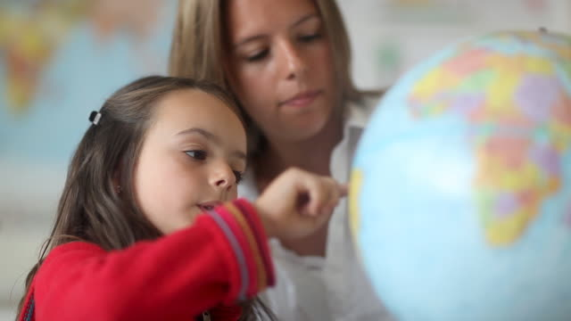 Classroom Teacher and Schoolgirl