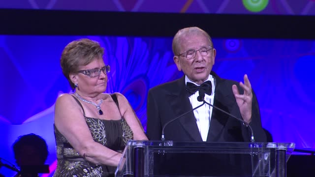 Claude Mann Alfred Mann on the event at the The Alfred Mann Foundation's Annual BlackTie Gala at Santa Monica CA