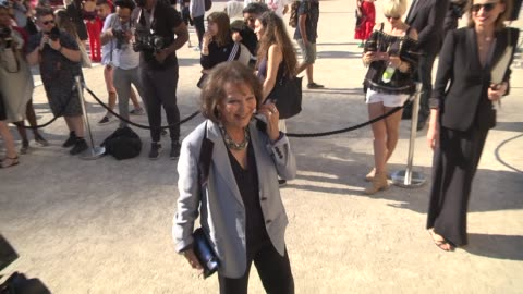 claudia cardinale attends the giorgio armani prive show as part of paris fashion week - haute couture fall winter 2020 on july 02, 2019 in paris,... - celebrity sightings stock videos & royalty-free footage