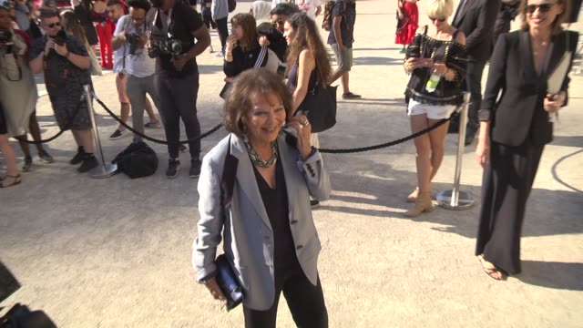claudia cardinale attends the giorgio armani prive show as part of paris fashion week haute couture fall winter 2020 on july 02 2019 in paris france - celebrity sightings stock videos & royalty-free footage