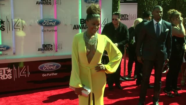 claudia jordan at the 2014 bet awards on june 29 2014 in los angeles california - bet awards stock videos and b-roll footage