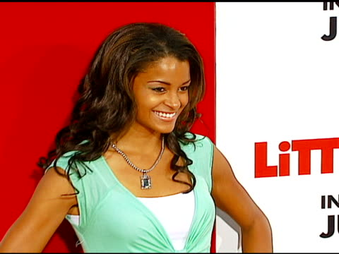 claudia jordan at the 'little man' premiere at the mann national theatre in westwood california on july 6 2006 - mann national theater stock videos & royalty-free footage