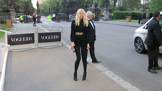 Claudia Schiffer arrives at the Vogue 100 Gala Dinner at Celebrity Sightings in London on May 23 2016 in London England
