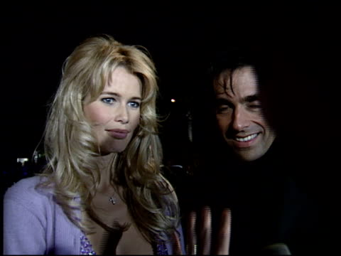 claudia schiffer at the 1995 academy awards morton party at morton's in west hollywood california on march 27 1995 - 67th annual academy awards stock videos & royalty-free footage