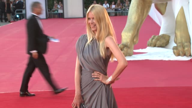 Claudia Schiffer at the 65th Venice Film Festival Burn After Reading Premiere at Venice