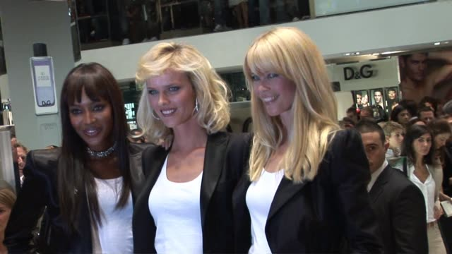 Claudia Schiffer at the DG Party Arrivals at Milan