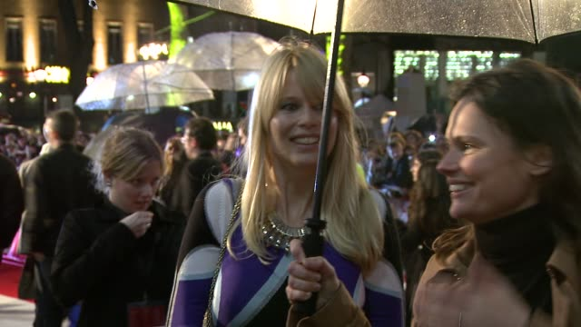 claudia schiffer at the kickass uk premiere at london england - kick ass film title stock videos & royalty-free footage