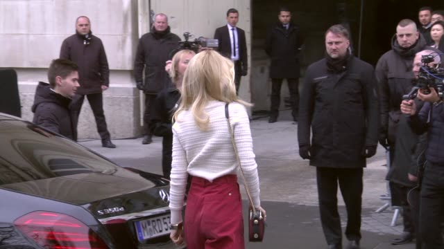 claudia schiffer attends the chanel show as part of the paris fashion week womenswear fall/winter 2019/2020 on march 5, 2019 in paris, france. - celebrity sightings stock videos & royalty-free footage