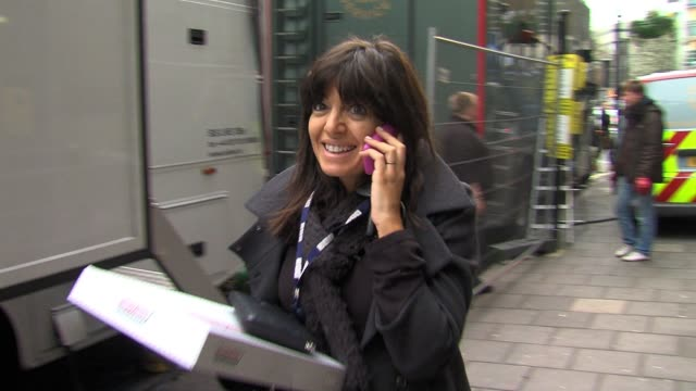 s longest show ever for comic relief claudia winkleman arrives with doughnuts claudia winkleman at bbc radio one studios on march 17 2011 in london... - claudia winkleman stock-videos und b-roll-filmmaterial